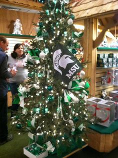 Michigan State Spartans Tree at Bronner's in Frankenmuth, MI