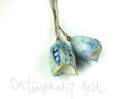 ON TEMPORARY HOLD  Artisan Ceramic Porcelain Beads pods