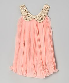 Take a look at this Pink Sequin Yoke Dress - Toddler & Girls by Blossom Couture on #zulily today!
