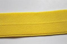 SUNSHINE YELLOW Foldover Elastic 1 Inch Plush by CreationsbyLSM, $2.22