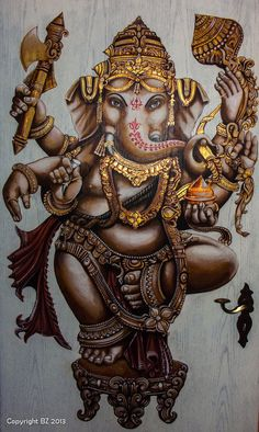 Ganesha by on DeviantArt Ganesh Lord, Shri Ganesh, Ganesha Art, Krishna, Lord Ganesha Paintings, Lord Shiva Painting, Hindu Deities, Hinduism, Elephant India