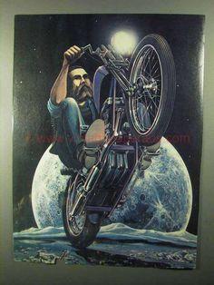 1977 David Mann Illustration - Moon