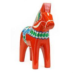 Cheval de Dala rouge - 13 cm - Grannas