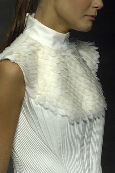 Fish Scale Textures - dimensional fashion details // Pedro Lourenço