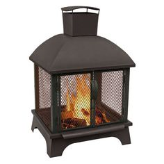 hampton bay cast iron chiminea 54 in wood burning outdoor fireplace rh pinterest com hampton bay outdoor gas fireplace hampton bay outdoor fireplace in slate