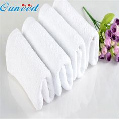 Zero 1Pc Soft Cotton 32*72cm Hotel Bath Towel Washcloths Hand Towels White