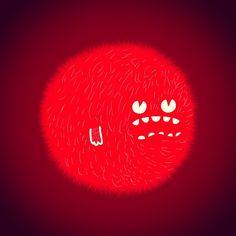 Red Furry Monster - @ericleonhdez | Webstagram