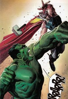 Hulk vs Thor by Jerome Opena