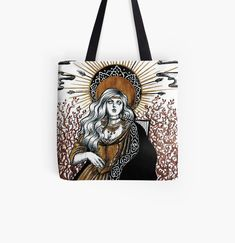 Large Bags, Small Bags, Cotton Tote Bags, Reusable Tote Bags, Baroque Fashion, Medieval Art, Medium Bags, Dark Art, Mistress