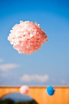 pink tissue pom.