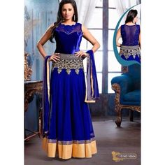 Ready to wear Blue Salwar Kameez