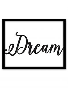 Free Printable Dream Wall Art from @chicfetti #freeprintable