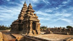 #Ancient #India:  Shore #temples of #Mamallapuram - #UNESCO #World #Heritage #Site. Of the nine monolithic temples found in Mamallapuram, the most important are Five Rathas known after the famous five #Pandava brothers of the #Mahabharata fame. These were #carved during the reign of #King #Mamalla (Narasimhavarman - I (A.D 630 - 68) It was a #sea-port during the time of Periplus (1st century AD) and Ptolemy (AD 140) and many Indian colonists sailed to #South-East Asia through this port town.