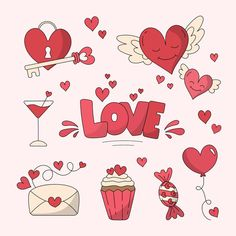 Discover thousands of copyright-free vectors. Graphic resources for personal and commercial use. Thousands of new files uploaded daily. Valentines Day Drawing, Happy Valentines Day, Graphic Design Templates, Modern Graphic Design, Scrapbook Layout Sketches, Scrapbook Stickers, Printable Stickers, Valentine Crafts, Drawing S
