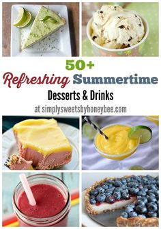 50+ Refreshing Summertime Desserts and Drinks via Simply Sweets by honeybee
