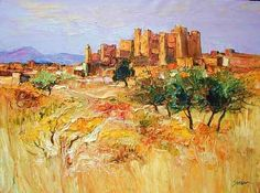 Landscape Painting by Jean Paul Surin French Artist