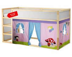 Fairies Bed Playhouse / Bed tent / Loft bed curtain - free design and colors customization