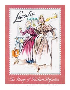 A seriously chic Lewoolin Clothes ad from 1949. #vintage #1940s #fashion