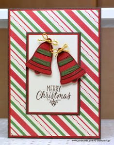 I used the Stampin' Up! Seasonal Bells Stamp Set and the This Christmas Designer Series Paper for this Christmas card.