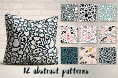 12 Abstract Patterns by Blue Lela Illustrations on @creativemarket