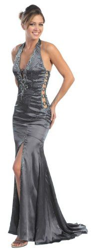 Prom Dress New JR Long Tail Back Gown #582 (8, Silver)