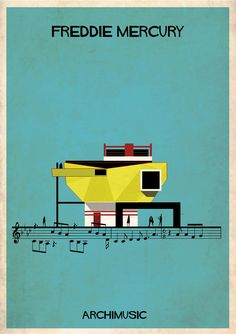 ARCHIMUSIC: Illustrations Turn Music Into Architecture | ArchDaily