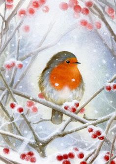 Our key principles are Fairness, Ability, Creativity, Trust and that& a F. Christmas Bird, Christmas Scenes, Christmas Animals, Vintage Christmas Cards, Watercolor Christmas Cards, Christmas Drawing, Christmas Paintings, Watercolor Bird, Watercolor Paintings