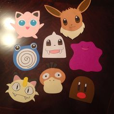 pokemon door decs for my residents part 2! p.s. these were all just made with glue, card stock, and sharpies :)