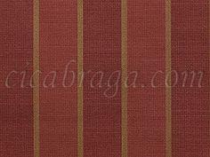 Ciça Braga - Papel de parede Papel de Parede Vinílico Texture World (Chinês) - Listras Semi-Texturizadas (Tons de Vermelho Escuro/ Dourado/ Detalhes com Brilho) - COLA GRÁTIS