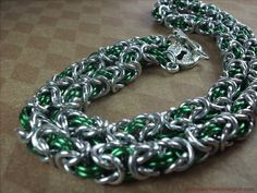 Emerald and Silver BDSM Collar/Choker Necklace by aislinnscollared