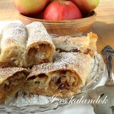 Ízes kalandok: Almás házirétes Apple Strudel, Apple Pie, Sweet Cookies, Hungarian Recipes, Pastry Cake, Sweet And Salty, Biscotti, Fudge, Muffin