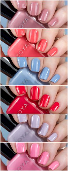 @zoyanailpolish Darling Collection Review #zoya #nailpolish New Nail Polish, Nail Polish Colors, Manicure Ideas, Bubblegum Pink, Blue Cream, Swatch, Fan, Nails, Makeup
