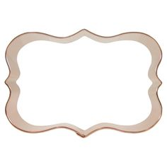 Fancy rectangle copper cookie cutter. Available in 3 sizes including a mini size. www.CopperGifts.com