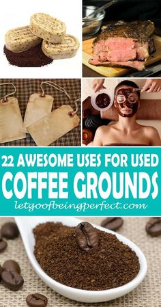 22 Uses for Used Coffee Grounds Don't throw those used coffee grounds into the trash! Upcycle them in 22 useful and awesome ways. Upcycle used coffee grounds into beauty products, facial scrub, composting, and even food cooking recipes. Remake, redo, reus