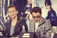 TH and RDJ... What in the world did someone say to make them make those faces? XD