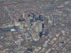 Awesome bird's-eye view over Denver, Colorado!