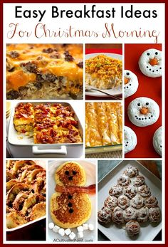 I don't know about you, but I don't want to be in the kitchen Christmas morning! Here are some easy breakfast ideas for Christmas morning.