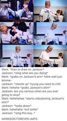mark feeling a little. Yugyeom, Youngjae, Markson Got7, Mark Jackson, Got7 Jackson, Jackson Wang, Girls Girls Girls, Got7 Mark, Mark Tuan