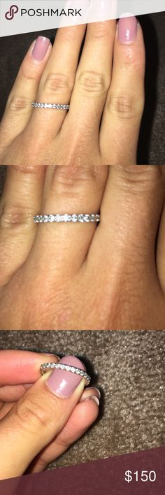 Diamond band .25 carat diamond ring can provide authenticity from jewelry store if really interested not sure about the details it was a gift Zales Jewelry Rings