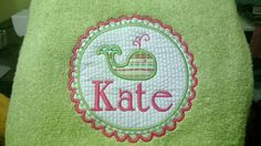 Beach towel. (Use the circle applique from JuJu