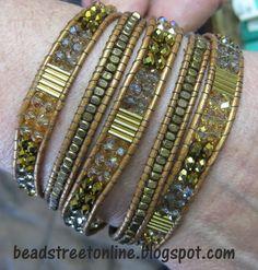 Bead Street Online: Multi-Gem Leather Wrap Bracelet Class