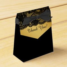Womans Black Lace and Gold Birthday Social gathering Favor Field. ** Find out even more by going to the picture