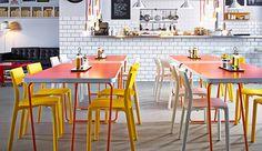 IKEA Caféhausmöbel wie z. B. JANINGE Barhocker