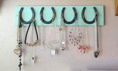 Hey, I found this really awesome Etsy listing at https://www.etsy.com/listing/161781860/horse-shoe-jewelry-accessory-rack