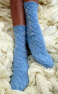 Ravelry: Snow Dancer Socks pattern by Wendy Gaal