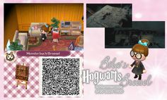 Monsterbuch der Monster - Book of Monsters - Hagrid - Tapete - Biba Broesel Spiel - A letter from Hogwarts - Harry Potter - Wall - Tapete - Animal Crossing New Leaf - ACNL - QR - Broesel
