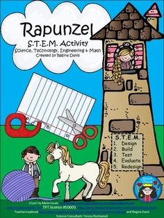 activities may seem daunting when teaching young children. This is a STEM activity that I created to go with the fairy tale, Rapunzel. I like to include literature, reading, and writing into my STEM activity so that I can incorporate it into my Stem Activities, Fairy Tale Activities, Educational Activities, Fractured Fairy Tales, Fairy Tales Unit, Kindergarten Stem, Fairy Tale Theme, Traditional Tales, Stem Science