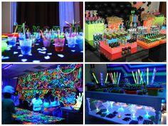 Decoração neon festa