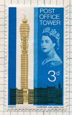post office tower postage stamp