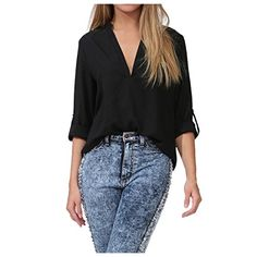 Partiss Damen Candy Loose Chiffon Basic V-Ausschnitt T-Shirt Bluse Shirt Top Partiss http://www.amazon.de/dp/B00XL2G35U/ref=cm_sw_r_pi_dp_kIavvb0968H5S
